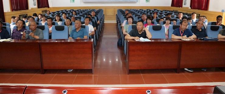 榆中县2020年高素质农民培育(农机)产业扶贫带头人能力提升培训班由我系教师培训
