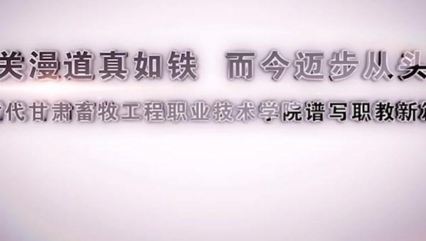 雄关漫道真如铁 而今迈步从头越,新时代甘肃畜牧工程职业技术威廉希尔下载app谱写职教新篇章