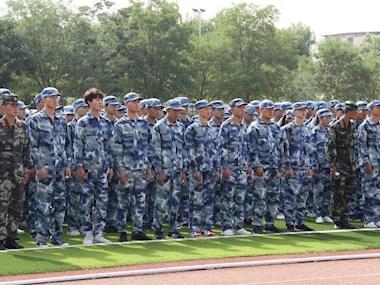 我院举行2019级新生军训开训仪式